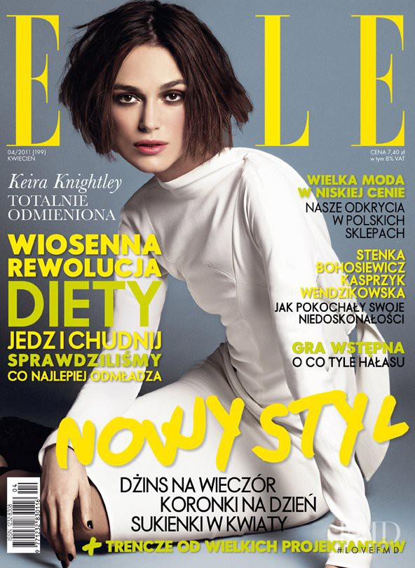 Keira Knightley featured on the Elle Poland cover from April 2011