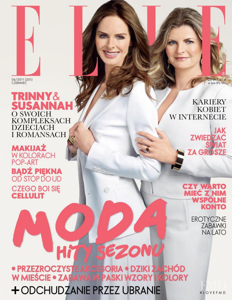 Susannah Constantine, Trinny Woodall featured on the Elle Poland cover from June 2011