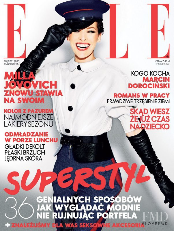 Milla Jovovich featured on the Elle Poland cover from October 2011