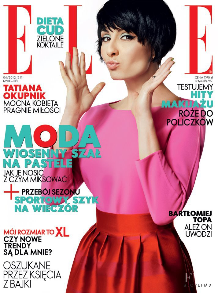 Tatiana Okupnik featured on the Elle Poland cover from April 2012