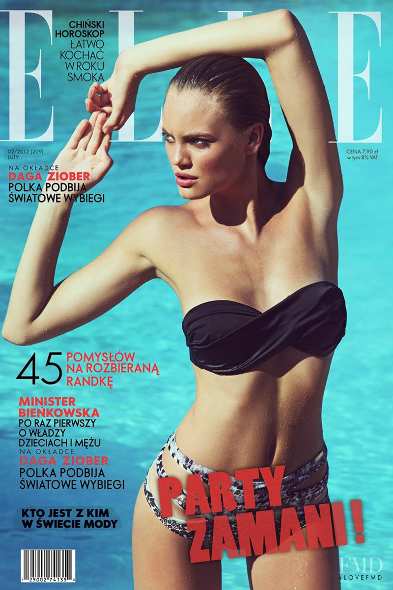 Kristina Peric featured on the Elle Poland cover from February 2012