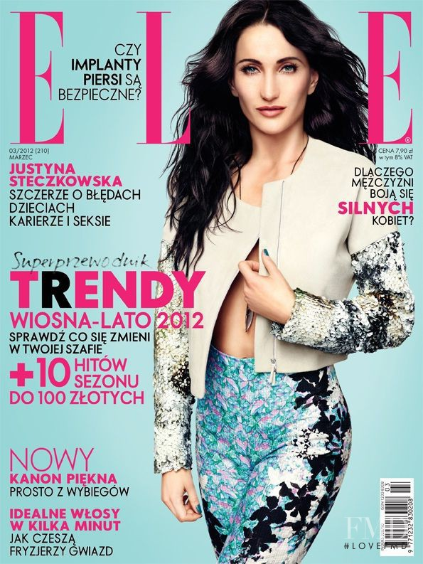 Justyna Steczkowska featured on the Elle Poland cover from March 2012