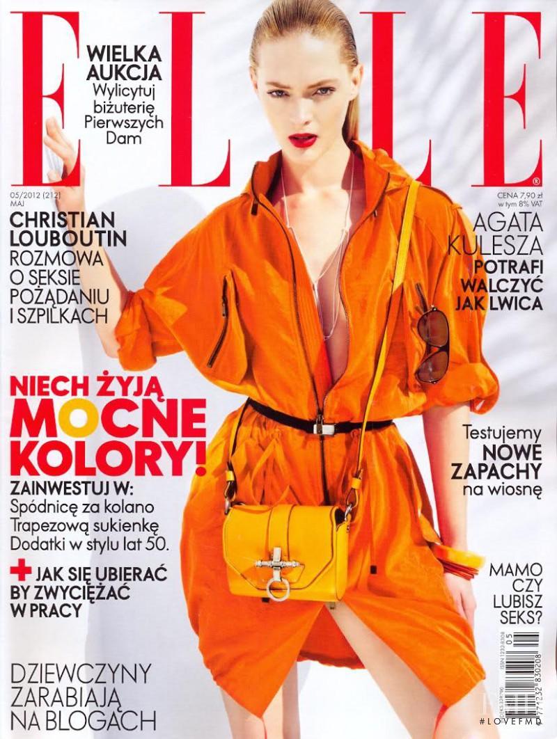 Heidi Harrington-Johnson featured on the Elle Poland cover from May 2012