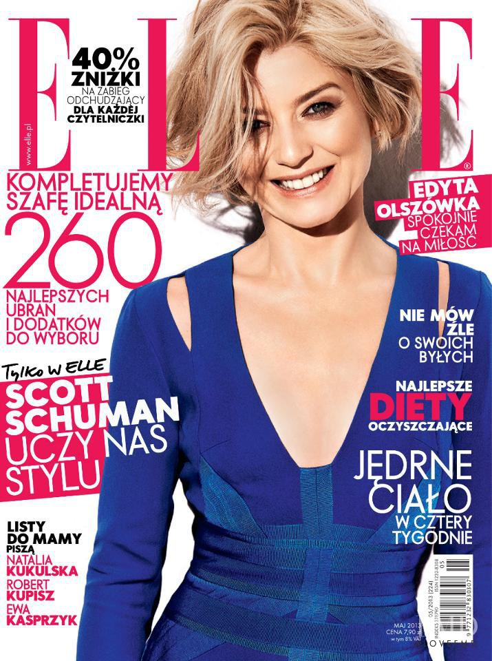 Edyta Olszówka featured on the Elle Poland cover from May 2013