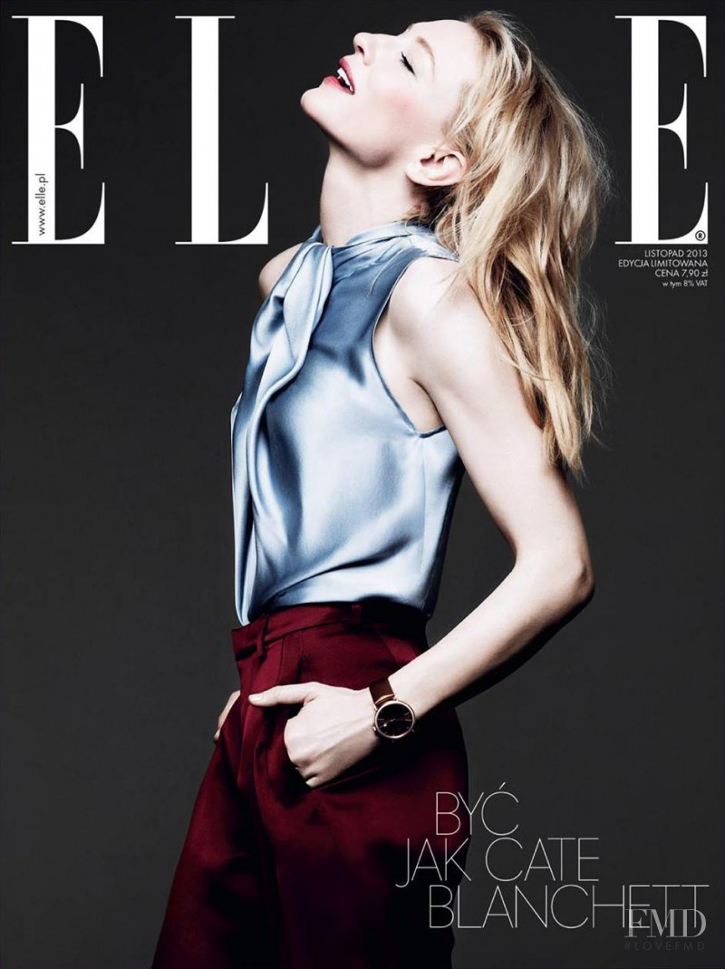 Cate Blanchett featured on the Elle Poland cover from November 2013