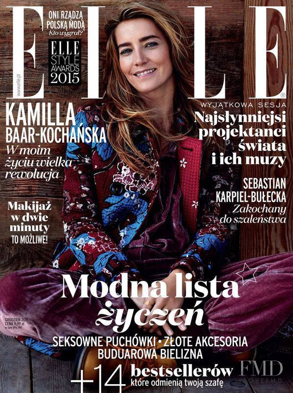 Kamilla Baar-Kochańska featured on the Elle Poland cover from December 2015