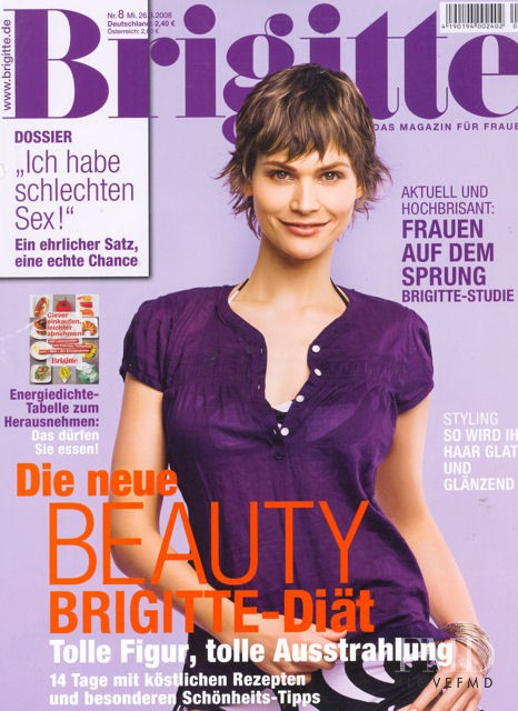 Christine Beutmann featured on the Brigitte cover from March 2008