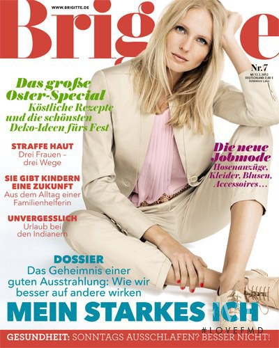 Myrthe de Poel featured on the Brigitte cover from March 2013