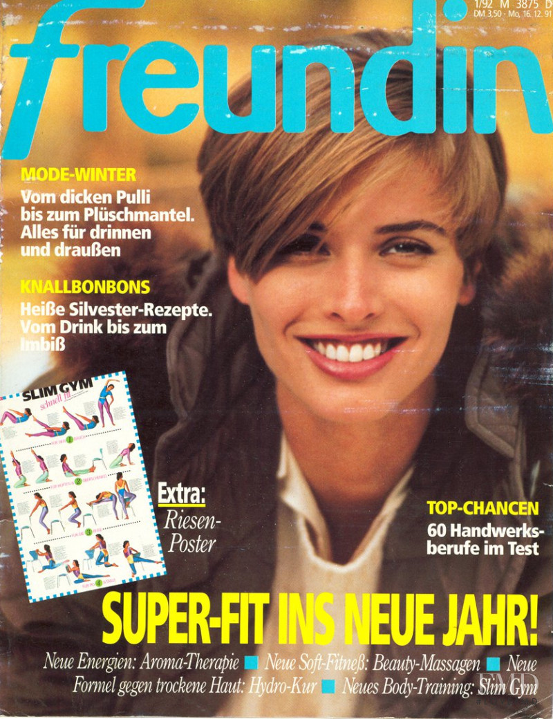 Cathy Fedoruk featured on the freundin cover from December 1991