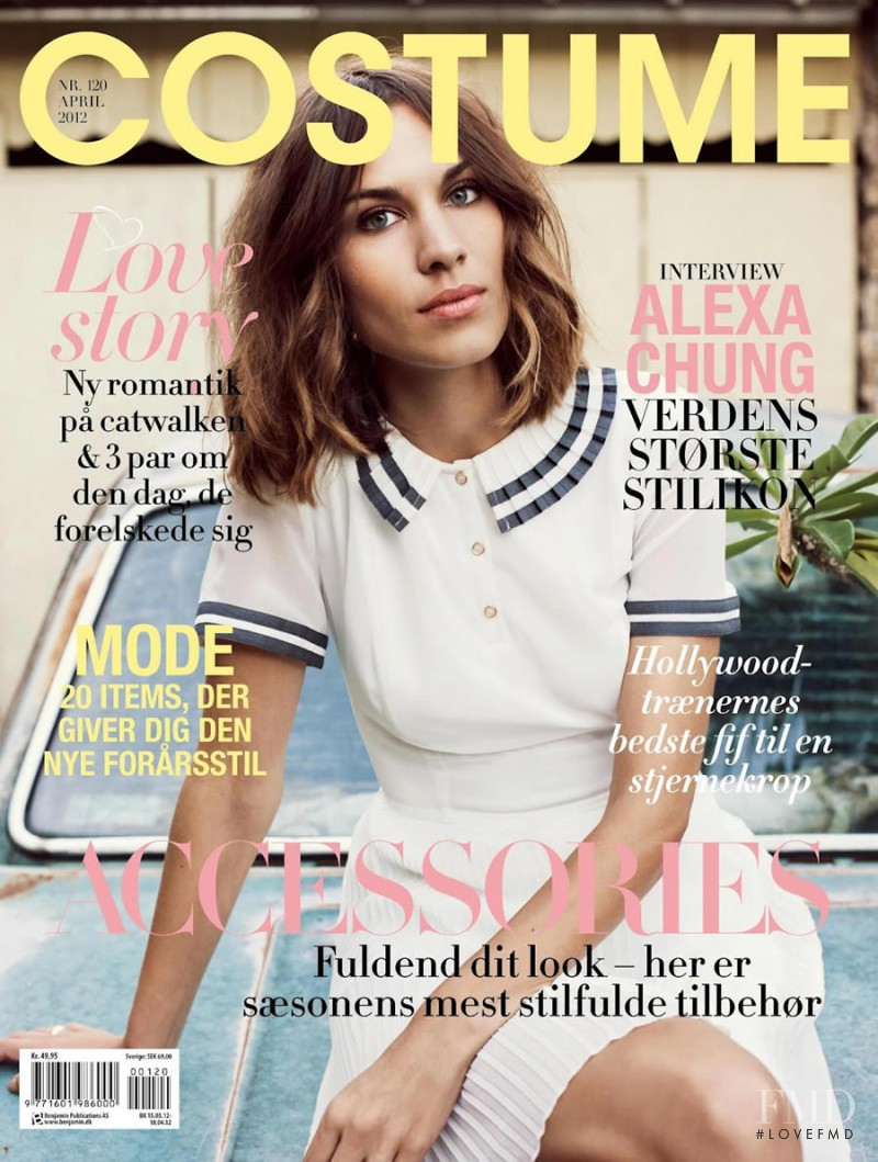Alexa Chung featured on the Costume Denmark cover from April 2012