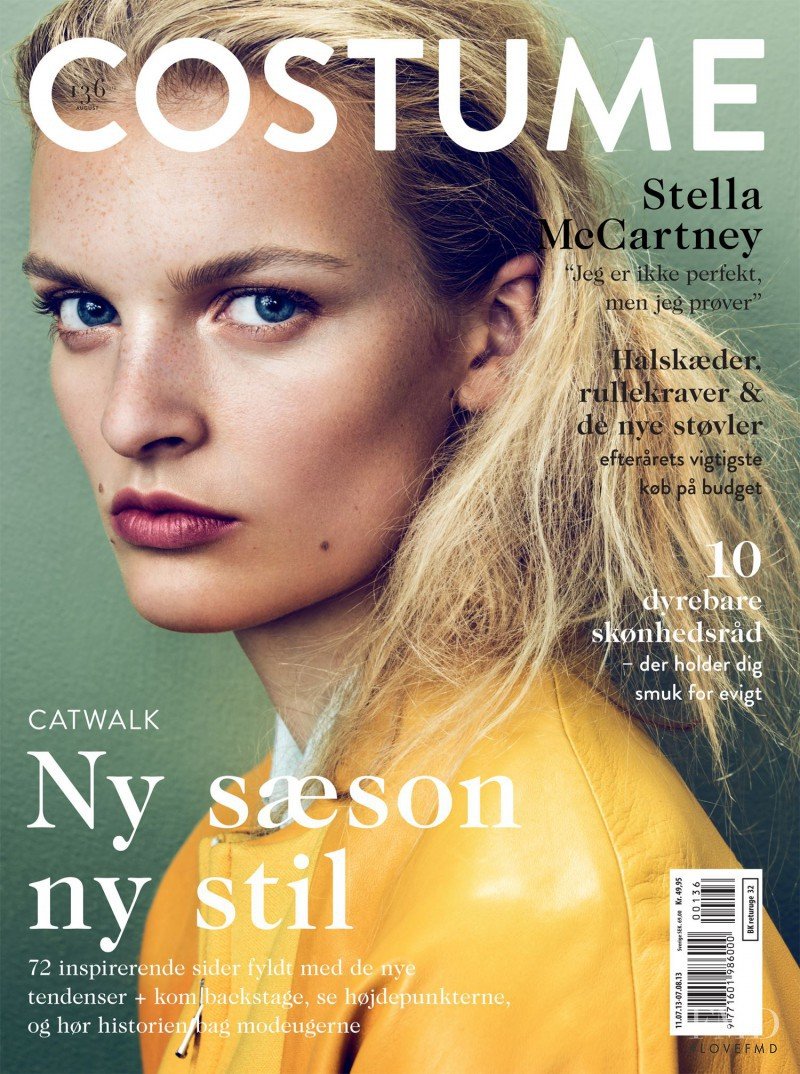 Juliane Grüner featured on the Costume Denmark cover from August 2013
