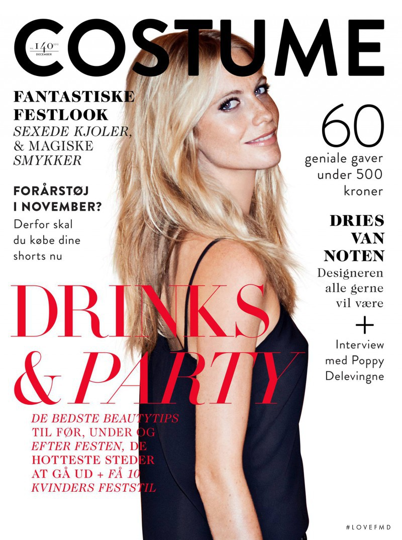 Poppy Delevingne featured on the Costume Denmark cover from December 2013