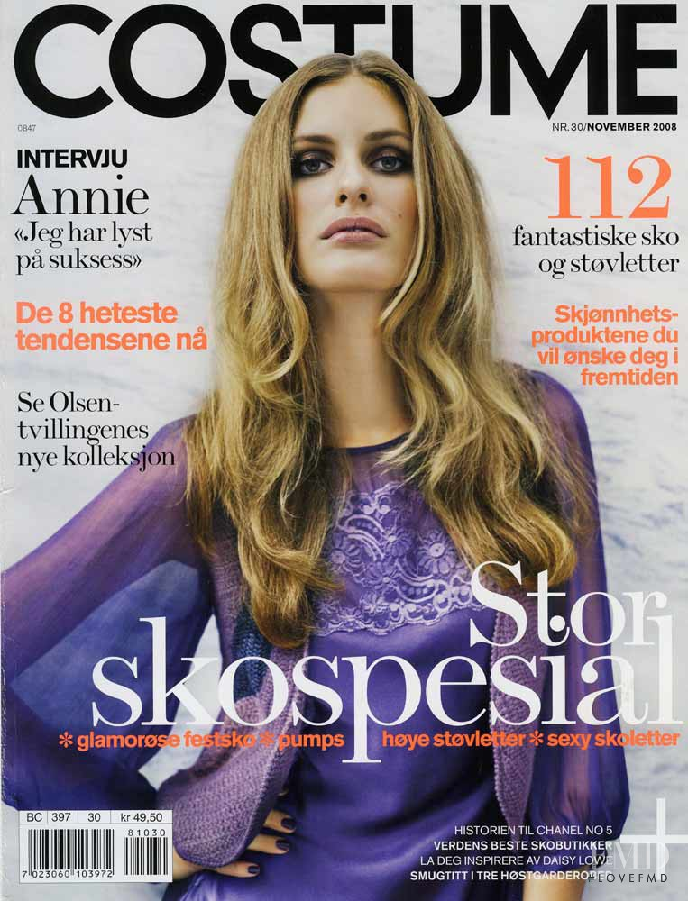 Tia Karlsen featured on the Costume Norway cover from November 2008