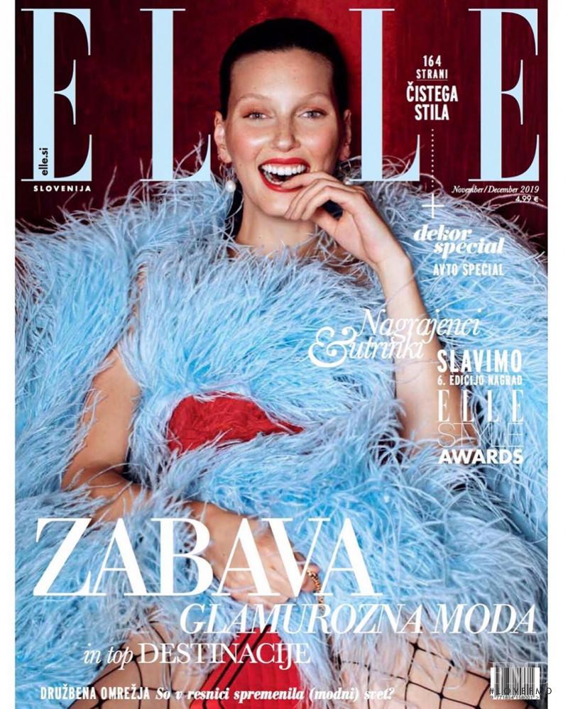 Veroniek Gielkens featured on the Elle Slovenia cover from November 2019