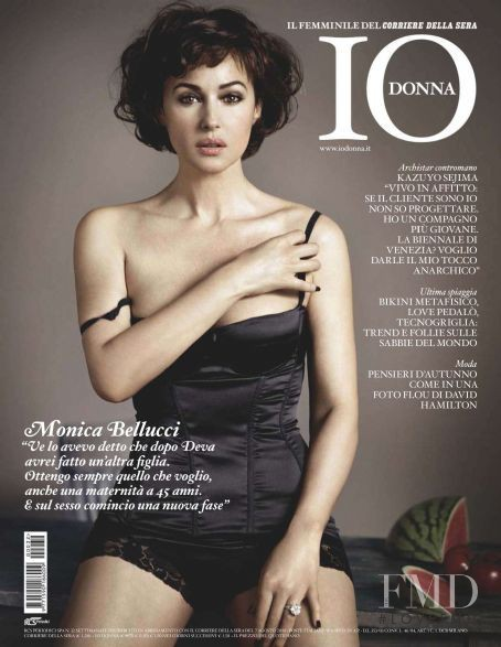 Monica Bellucci featured on the Io Donna cover from August 2010