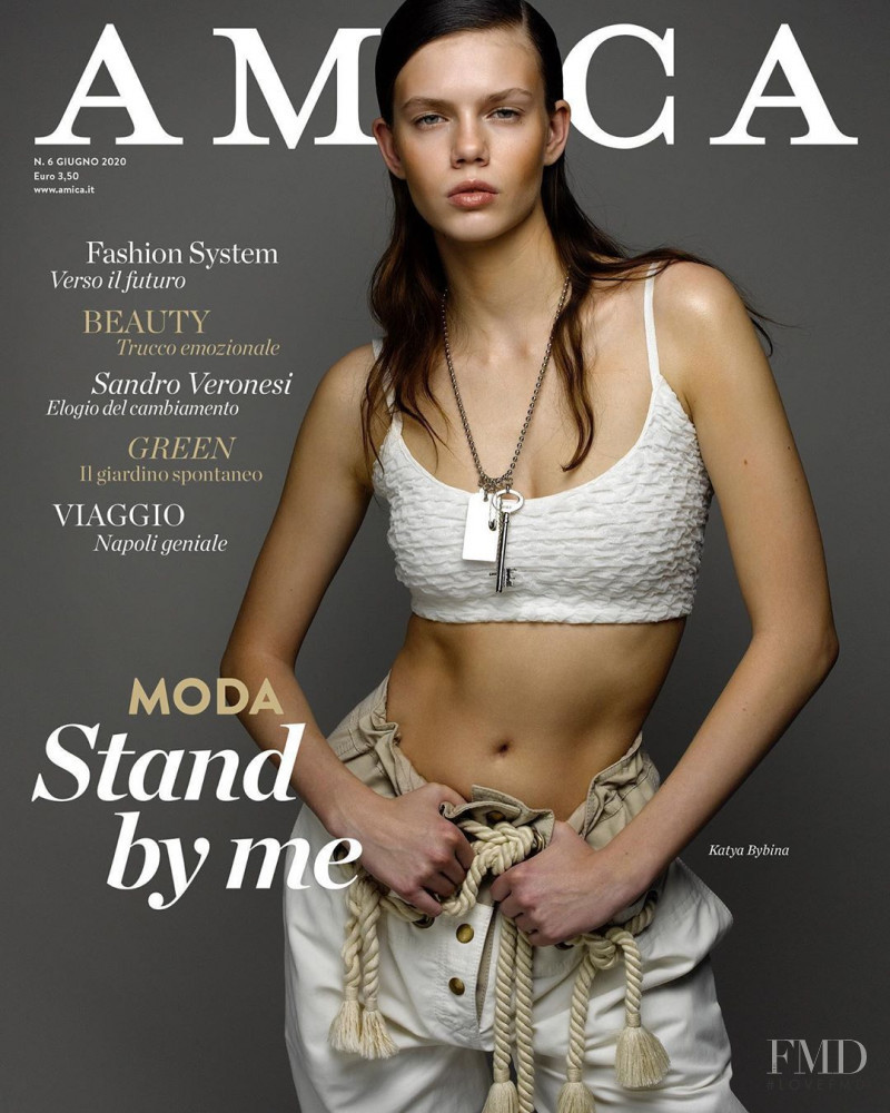 Katya Bybina featured on the AMICA Italy cover from June 2020