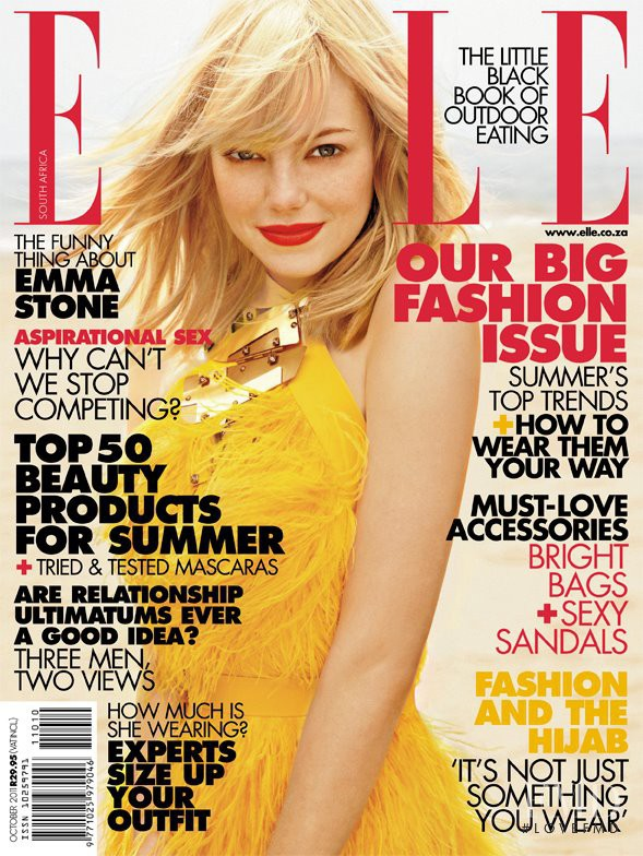 Emma Stone featured on the Elle South Africa cover from October 2011