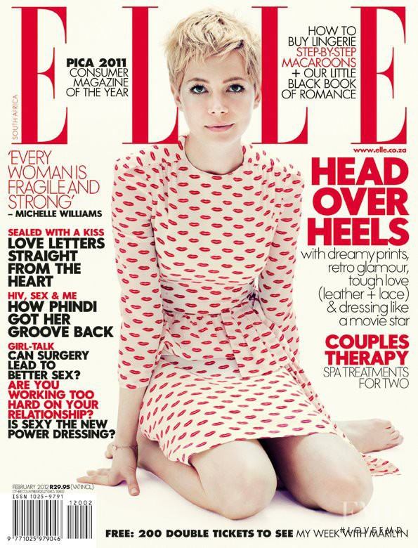 Michelle Williams featured on the Elle South Africa cover from February 2012