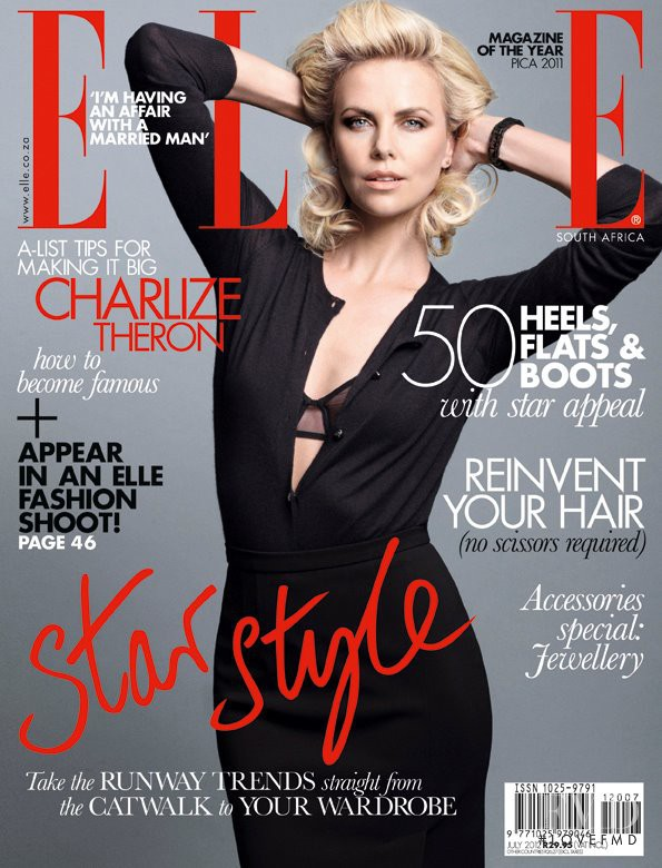 Charlize Theron featured on the Elle South Africa cover from July 2012