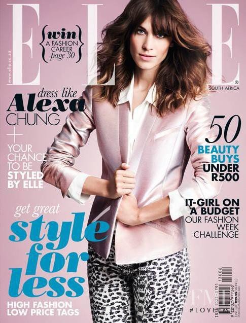 Alexa Chung featured on the Elle South Africa cover from June 2013