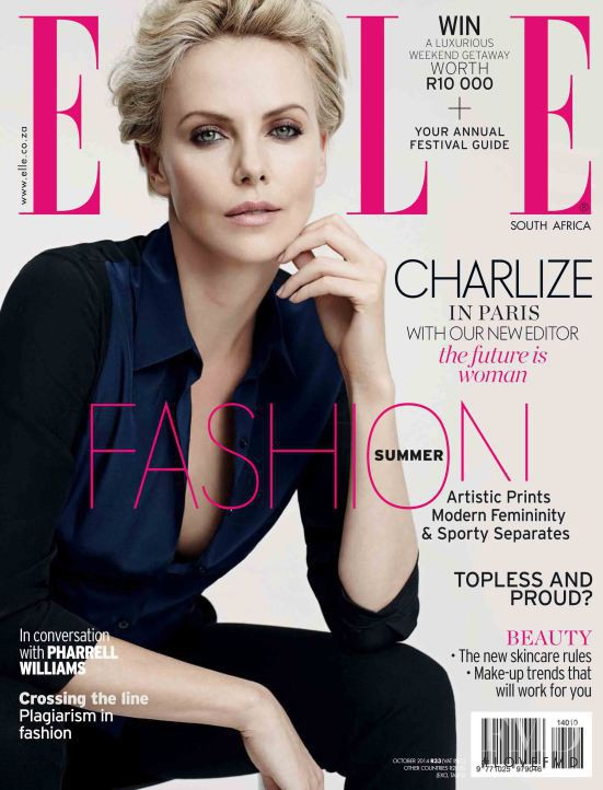 featured on the Elle South Africa cover from October 2014