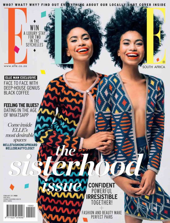featured on the Elle South Africa cover from February 2015