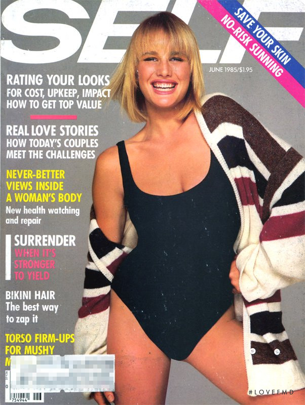 Hunter Reno featured on the SELF cover from June 1985
