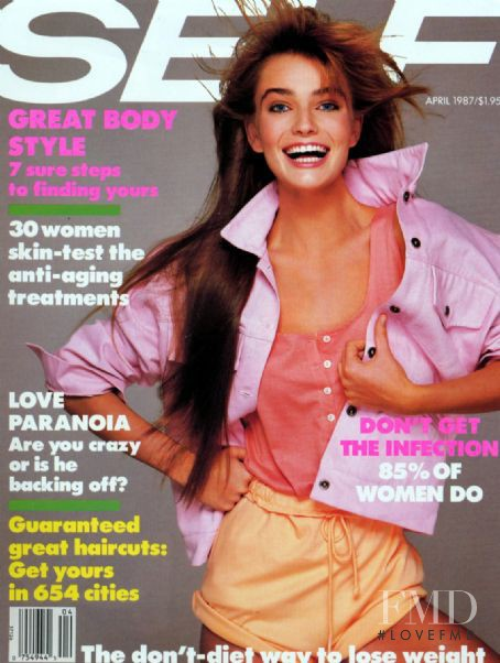 Paulina Porizkova featured on the SELF cover from April 1987