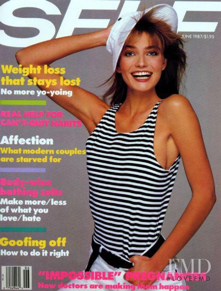 Paulina Porizkova featured on the SELF cover from June 1987