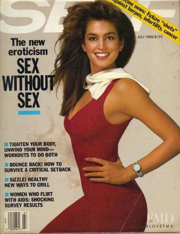 Cindy Crawford featured on the SELF cover from July 1988