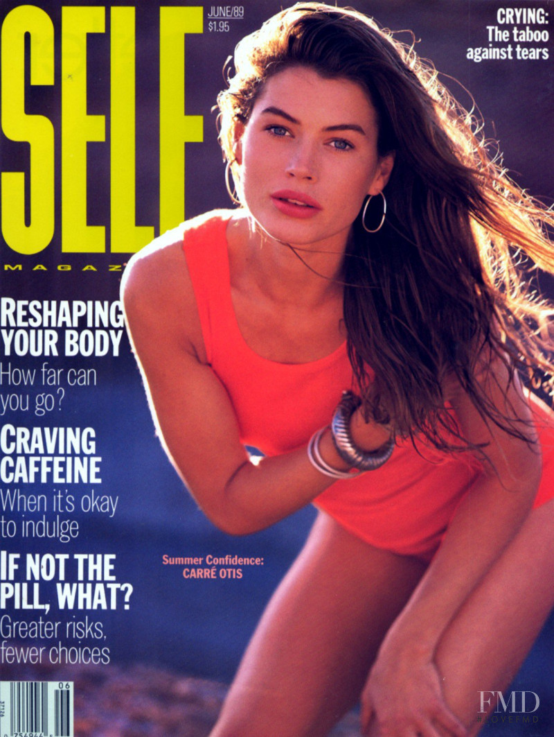 Carre Otis featured on the SELF cover from June 1989