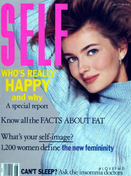 Paulina Porizkova featured on the SELF cover from August 1991