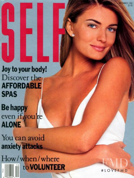 Paulina Porizkova featured on the SELF cover from December 1991