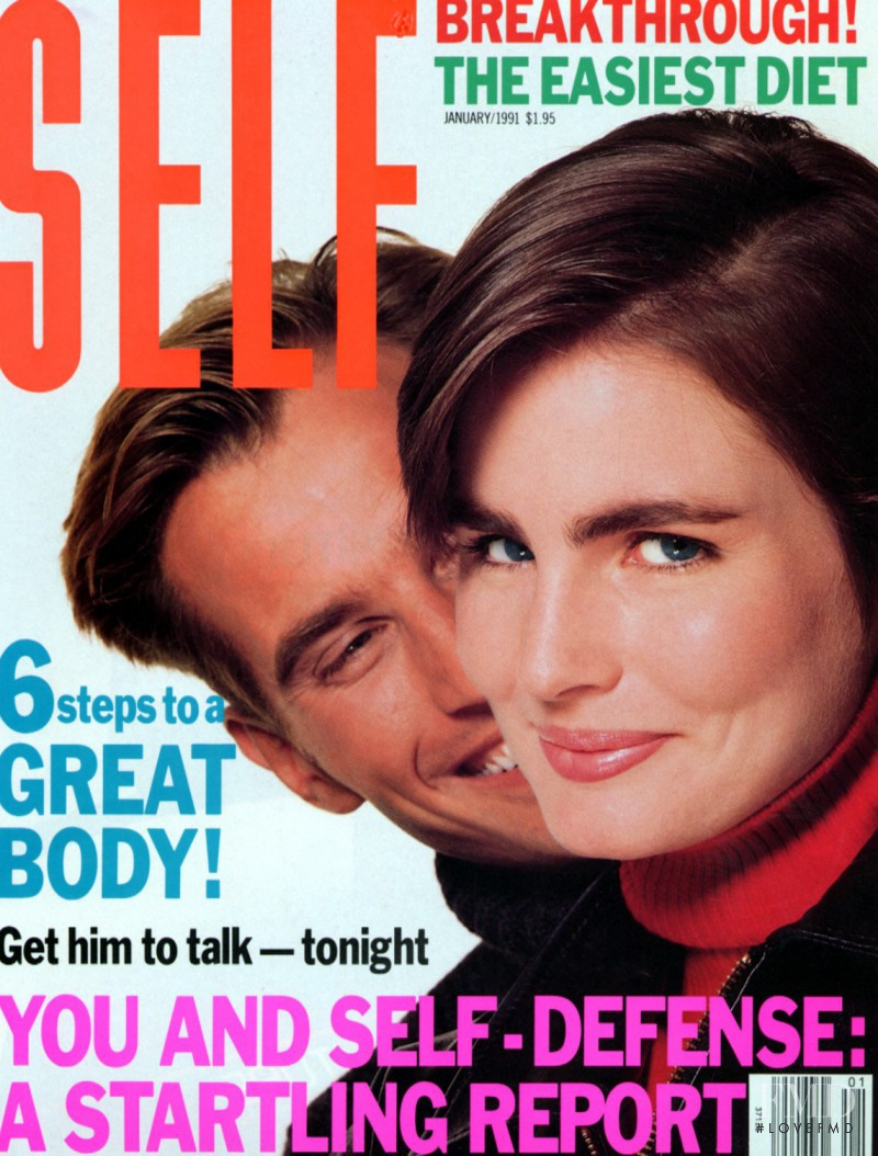 Alexa Singer, Michael Ives featured on the SELF cover from January 1991