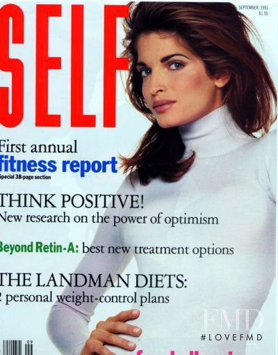 Stephanie Seymour featured on the SELF cover from September 1991