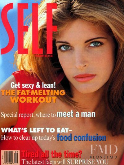 Stephanie Seymour featured on the SELF cover from February 1993