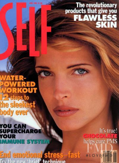 Stephanie Seymour featured on the SELF cover from June 1993