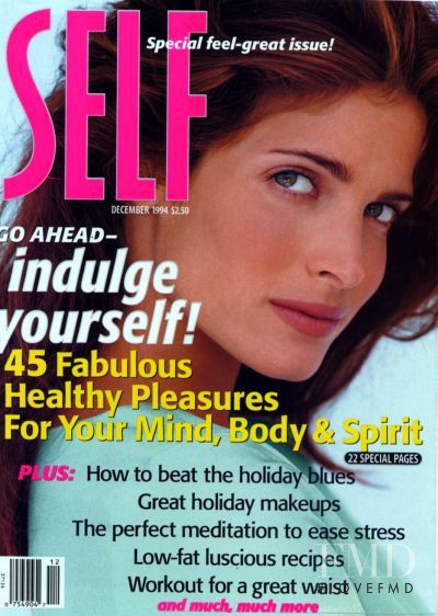 Stephanie Seymour featured on the SELF cover from December 1994