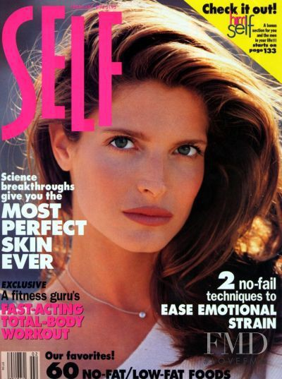 Stephanie Seymour featured on the SELF cover from February 1994