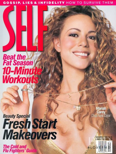 Mariah Carey featured on the SELF cover from December 1998