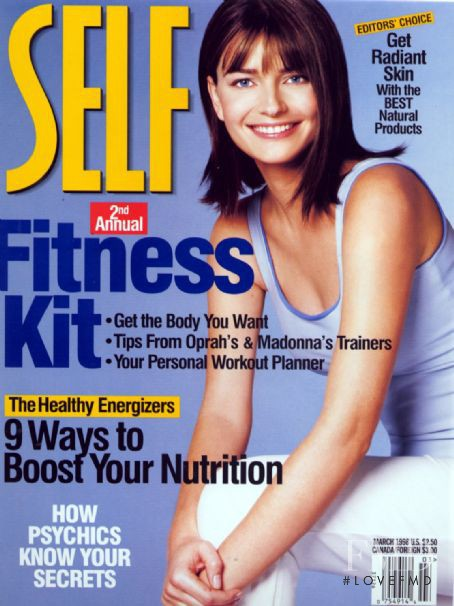 Paulina Porizkova featured on the SELF cover from March 1998