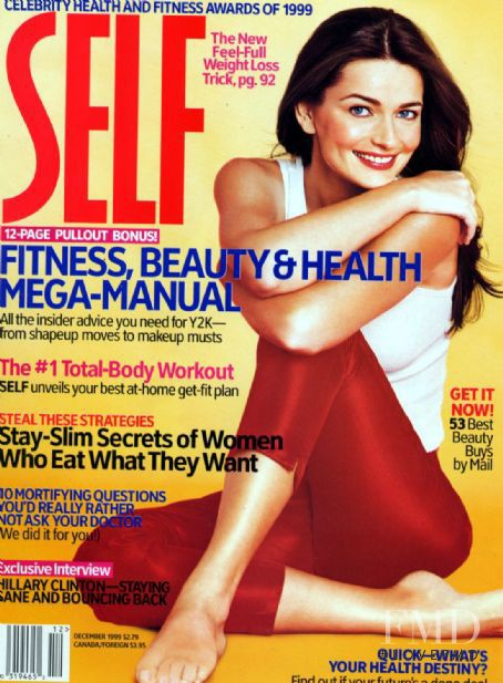 Paulina Porizkova featured on the SELF cover from December 1999