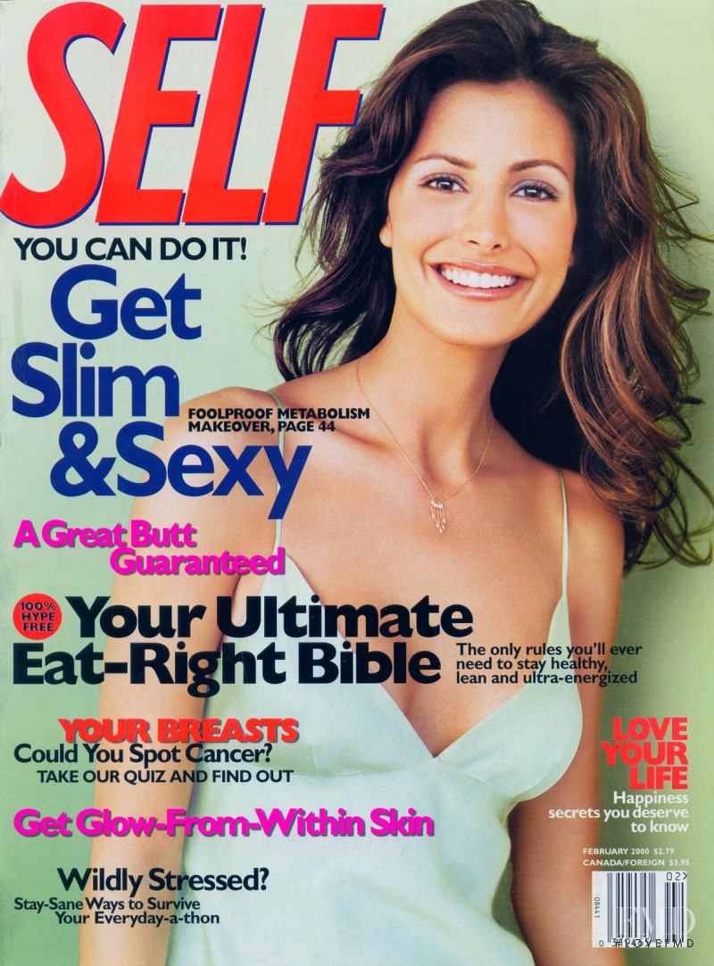 Elsa Benitez featured on the SELF cover from February 2000