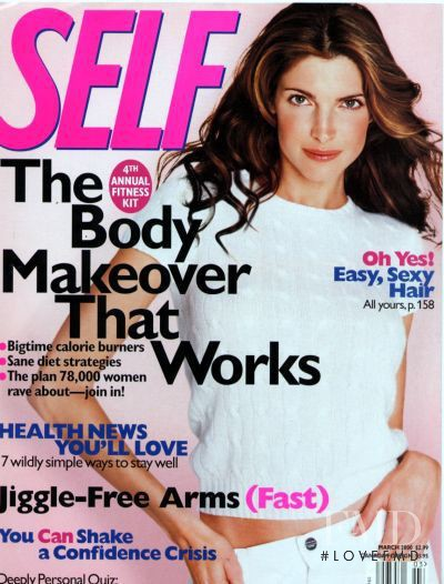 Stephanie Seymour featured on the SELF cover from March 2000