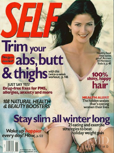 Jill Hennessy featured on the SELF cover from November 2002