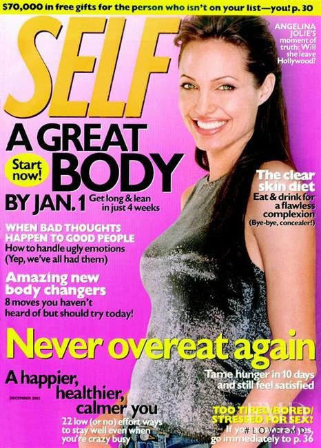 Angelina Jolie featured on the SELF cover from December 2003