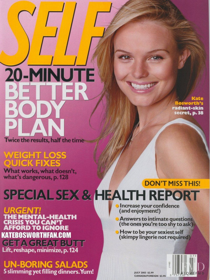 Kate Bosworth featured on the SELF cover from June 2003