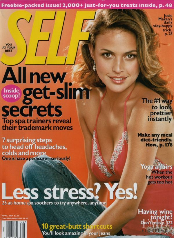 Josie Maran featured on the SELF cover from April 2004