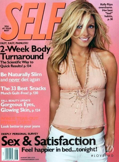 Kelly Ripa featured on the SELF cover from August 2004