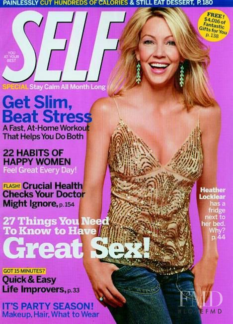 Heather Locklear featured on the SELF cover from December 2004